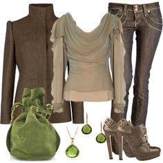 Green with Envy, created by debbie-probst on Polyvore