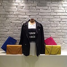 Borgenni window, showcase, Bags borse clutch  pochette totebag