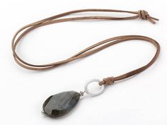 Jade Earrings, Tiny Earrings, Jade Jewelry, Long Pendant Necklace, Stone Necklace, Elegant Chic, Leather Cord, Brown Leather, Minimalist Necklace