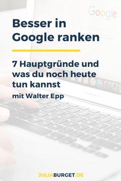 Fragst du dich, wie du in Google besser ranken kannst? Bisher landet dein Content auf Seite 2 der Suchergebnisse, doch das kannst du noch heute ändern. Die 7 Hauptgründe, warum Google deinen Content bestraft. Tipps für Suchmaschinen. Suchmaschinen Ranking verbessern. SEO Tipps für deine Webseite. Bau dir einen erfolgreichen Blog auf. Suchmaschinenoptimierung.