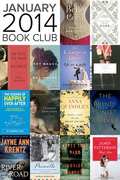 Book Club: 14 new books for women out January 2014. Especially excited for James Patterson's new one. his books have always been my guilty pleasure.