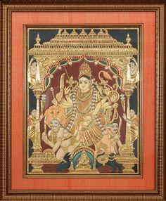 Tanjore paintings also known as Tanjavur paintings have decorated the walls of temples, palaces and homes since the chola dynasty(17th century). Deeply rooted in tradition, Tanjore paintings depict divine Gods and Goddesses of the Hindu pantheon in rich vibrant colors.<br><br>  Notable for the adornment of semi-precious stones and 22 karat gold foils, the creation of a Tanjore Paintings involves a lot of dedication and several stages of meticulous artwork. <br> <br>