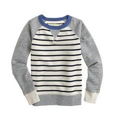 Boys' stripe sweatshirt - AllProducts - nullsale - J.Crew