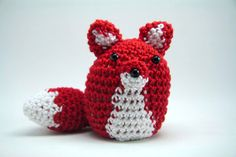 Pincushion Fox Amigurumi  Red/Crimson by minibytes on Etsy, $15.00