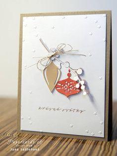 Ručně - s láskou: Papercards. Create Christmas Cards, Christmas Card Images, Christmas Makes, Xmas Cards, Diy Christmas Gifts, Christmas Greetings, Diy Cards, Christmas Time, Winter Cards