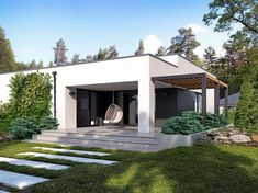 Projekt domu Atos 137,23 m2 - koszt budowy - EXTRADOM Parent Open House, Preschool Open Houses, Open House Night, Modern Small House Design, Small House Decorating, Home Fashion, House Colors, Exterior Design, Modern Architecture