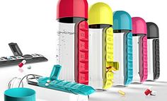 Home solutions pop up weekly pill organizer 6698 art n crafts introducing the new sleek in style pill organizer and water bottle combined the asobu pill organizer bottle holds 20 ounces solutioingenieria Gallery