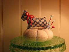 1930's VIntage Reproductions Scottie Dog Pin Cushion...Blue by sweetmemorymakingmom, via Flickr