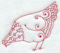 Machine Embroidery Designs at Embroidery Library! - A Country Hens & Roosters (Redwork) Design Pack - Lg I LOVE Chickens and this is so special.Too bad it's Machine Embrodery cj Embroidery Transfers, Hand Embroidery Patterns, Vintage Embroidery, Embroidery Applique, Cross Stitch Embroidery, Machine Embroidery Designs, Embroidery Thread, Indian Embroidery, Red Work Embroidery