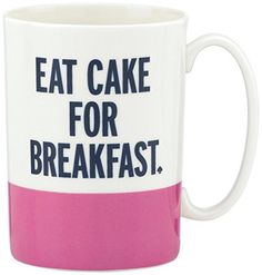 Kate Spade New York Things We Love Eat Cake For Breakfast Mug, 2015 Amazon Top Rated Napkin Rings #Kitchen