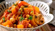 This aromatic vegetarian tagine is inspired by Moroccan flavours. See more Moroccan recipes at Tesco Real Food. Sweet Potato Dumplings, Soup Recipes, Healthy Recipes, Healthy Dinners, Healthy Food, Spicy Soup, Tesco Real Food, Ras El Hanout, Recipes