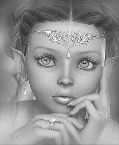 Image result for grayscale fairy angel fantasy art
