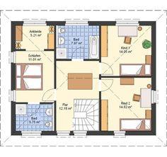 Grundriss Obergeschoss Plusenergiehaus Life von