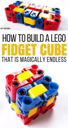 Magically Endless DIY Lego Fidget Cube for Kids That Can't Sit Still via @lemonlimeadv