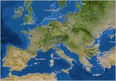 Así quedaría Europa si se deshelaran ambos polos. O cuando se deshielen...