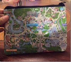 Instructions on how to make your own Disney park map pouch
