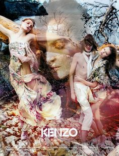 From the Kenzo S/S 09 ad campaign: Mario Sorrenti- Photographer Guinevere Van Seenus- Model Magdalena Frackowiak- Model Marcel Castenmiller- Model