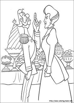 Disneys Cinderella Coloring Pages Cinderellas Stepsisters And