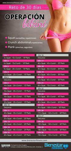 Cuerpo bikini en 30 días http://www.bienestarfitness.com/fitness/cuerpo-bikini-30-dias/ #bikini #operacionbikini #fitness #cuerpo10 #delgada #fit