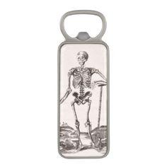Funny Vintage Skeleton Magnetic Bottle Opener - antique gifts stylish cool diy custom