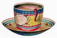 Free Vintage Clip Art - Tea Cup Trade Card