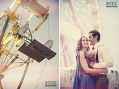 Ruffled® | Denaye + David's 1950s Carnival Engagement Session