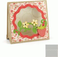 Silhouette Design Store - View Design #57246: 3d stand up card: strawberry