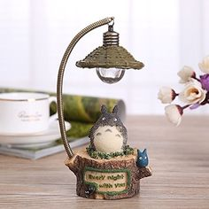 Home Furnishing Ornments Retro Totoro Nightlight Creative Gifts a round stump >>> Find out more about the great product at the image link.