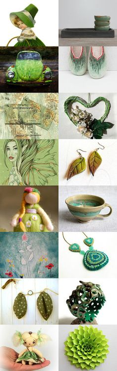 Only Green by Maria Grazia Pileggi on Etsy--Pinned with TreasuryPin.com