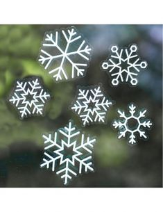 Buy Ginger Ray Snowflake Window Stickers from our Christmas Room Decorations range at John Lewis & Partners. Christmas Window Stickers, Christmas Balloons, Christmas Window Decorations, Christmas Snowflakes, Room Decorations, Christmas Ornaments, Holiday Decor, Painting Snowflakes, Winter Window Display