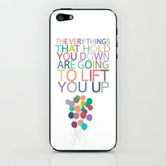 lift you up.. dumbo inspirational quote iPhone & iPod Skin by studiomarshallarts - $15.00