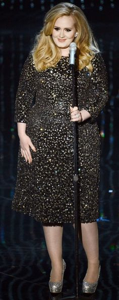 #Adele aux Grammy Awards #plussize #curves