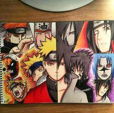 Naruto Vs Sasuke, Anime Naruto, Naruto Fan Art, Naruto Cute, Naruto Shippuden Anime, Manga Anime, Naruto Sketch, Naruto Drawings, Anime Sketch