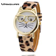 Vansvar Hot Sale Glasses Cat Watch Fashion Leather Strap Wrist Watch Women Quartz Watches Reloj Mujer Relogio Feminino 1597     Tag a friend who would love this!     FREE Shipping Worldwide | Brunei's largest e-commerce site.    Get it here ---> http://mybruneistore.com/vansvar-hot-sale-glasses-cat-watch-fashion-leather-strap-wrist-watch-women-quartz-watches-reloj-mujer-relogio-feminino-1597/