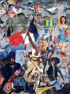 """Saatchi Art Artist marco innocenti; Collage, """"Viva la Franca - 1/5"""" #art"""