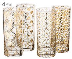 Decken Sie Ihre Tafel mit Cocktailgläser-Set Highballs, 4-tlg. in Transparent, Gold. Entdecken Sie die hochwertige Auswahl an Geschirr von ROSANNA auf >> WestwingNow.