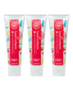 6-Oz. Strawberry Toothpaste - Set of Three by The Honest Company $12.95 for THREE natural toothpaste for kids! My kids love this and it's Flouride free!
