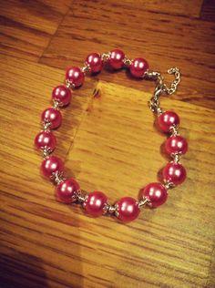 Pink Beaded Bracelets, Pink, Jewelry, Jewellery Making, Rose, Pearl Bracelets, Jewelery, Jewlery, Jewels