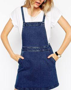 Image 3 - ASOS - Aline - Robe chasuble en jean