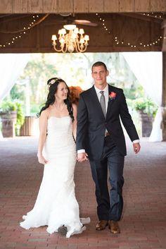 An Elegant Light Pink and Navy Florida Wedding