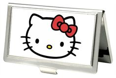 White Hello Kitty Signature Face Business Card Case Wallet Holder Professional | eBay