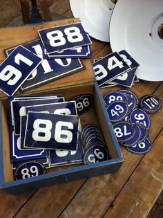 Antique number signs from Provence (table numbers)