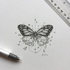 inspirational butterfly tattoo drawings, geometric tattoos, butterfly tattoo ideas for inspiration A Trendy Tattoos, New Tattoos, Body Art Tattoos, Tatoos, Xoil Tattoos, Forearm Tattoos, Maori Tattoos, Polynesian Tattoos, Art Drawings Sketches
