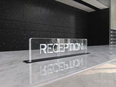 Reception Signage, 忠泰 聚, AI Group