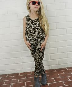 Loving this Brown Leopard Jumpsuit - Toddler & Girls on #zulily! #zulilyfinds