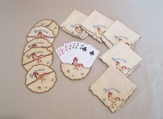 Card Protectors Vintage Bridge Set Cloth by HobbitHouse on Etsy