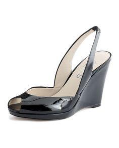 KORS Michael Kors Vivian Patent Wedge Sandal - looks like a great work shoe M Kors, Hot Heels, Michael Kors Shoes, Wedding Shoes, Wedge Sandals, Shoe Boots, Women's Shoes, Me Too Shoes, Footwear