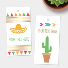 Custom tags - add your text to these cute gift tags! Available in 10 designs.