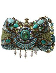 Mary Frances Byzantine Empire Blue Green Convertible Clutch Handbag
