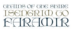 Calligraph Initials OT published by Richard Beatty. #fonts #hobbit